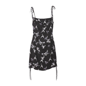 限定DEERTRIP Butterfly Dream 90s Drawstring dress