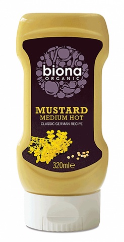Organic Squeezy Mustard - German (medium hot)