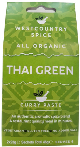 Organic thai green curry paste