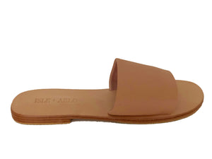 Sadie Slide - Nude Leather