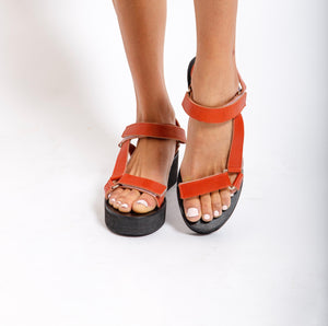 Melanie Platform - Burnt Orange