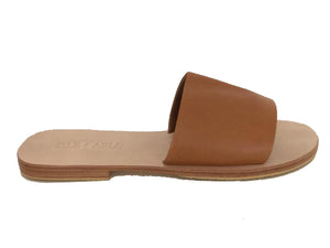 Sadie Slide - Tan Leather