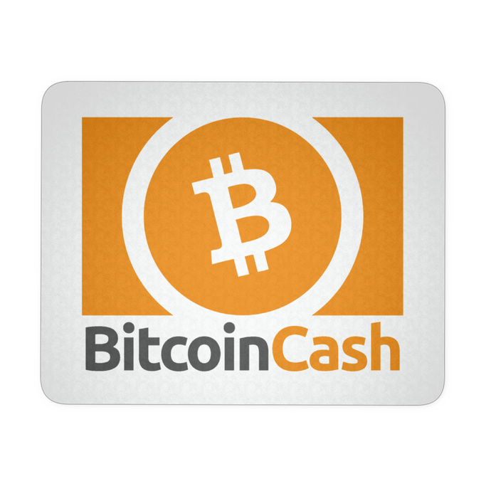 Bitcoin Cash (BCH) Cryptocurrency Themed Mouse Pad