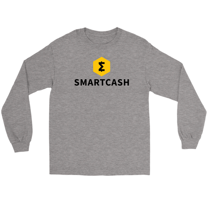 SmartCash (SMART) Full Chest Logo Long Sleeve T-Shirt