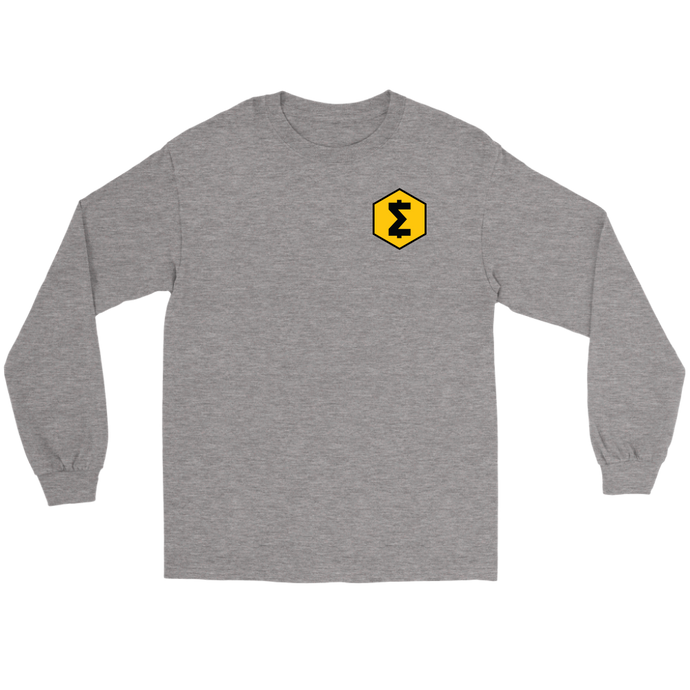 SmartCash (SMART) Upper Chest Symbol Long Sleeve T-Shirt