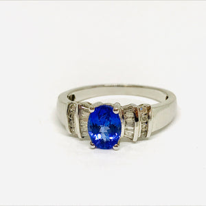 Vintage Style Blue Tourmaline ring