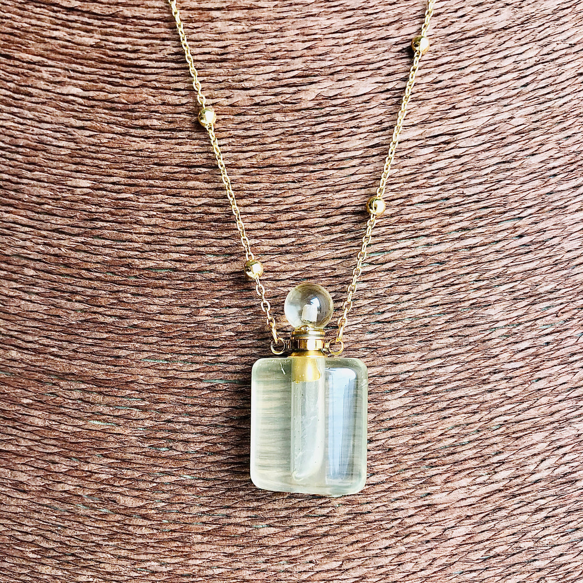 Crystal Perfume Vial necklaces