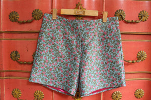 Blue Flower Shorts