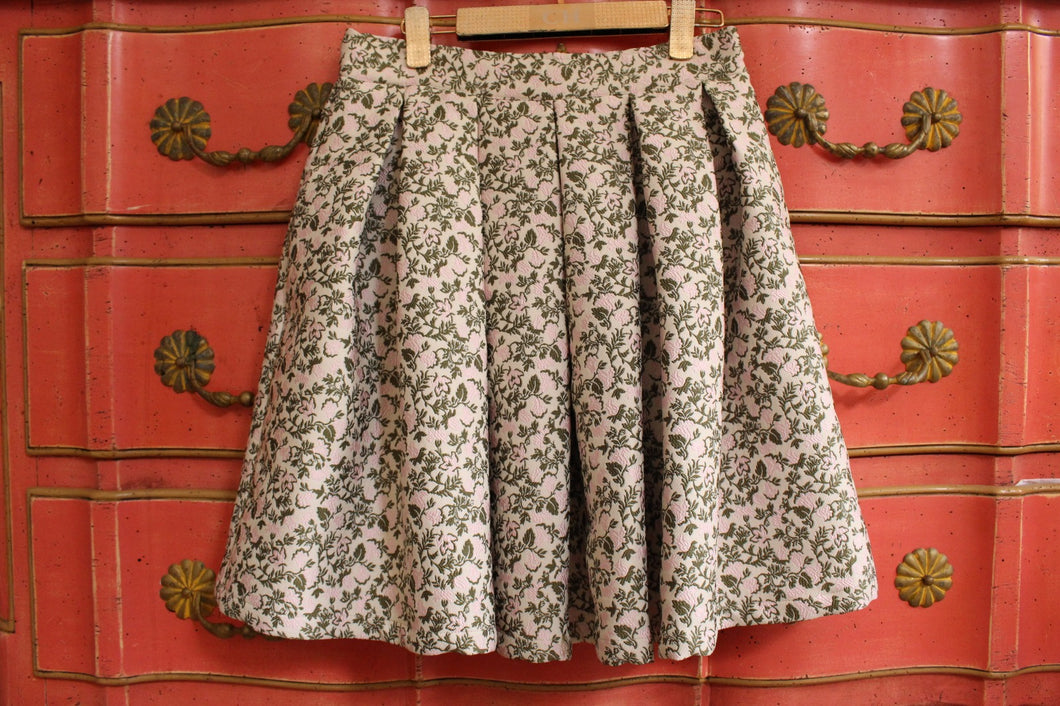 Cream Flower polo skirt