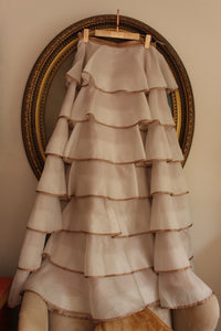 Silk organza layered skirt