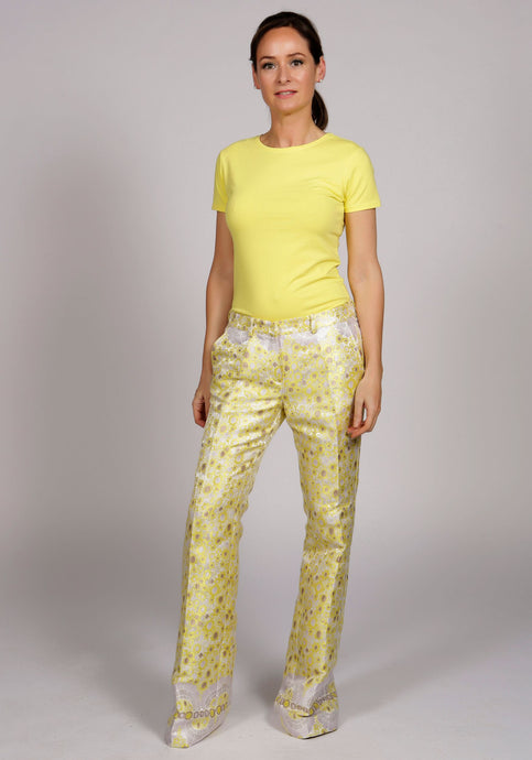 WISTERIA YELLOW BELL BOTTOM TROUSERS