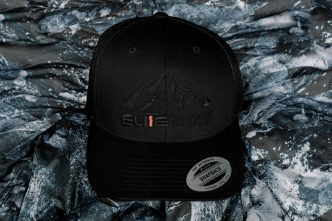 Elite Himalayan Classic Retro Trucker Cap - Black Logo Embroided
