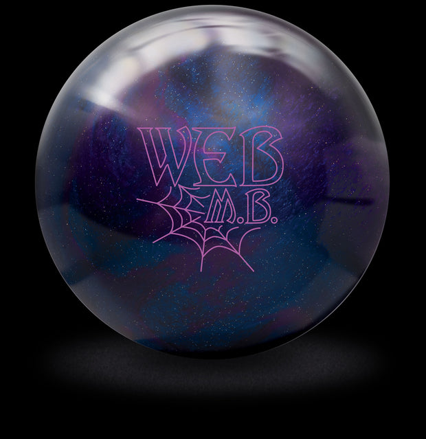 Web MB Bowling Ball in Purple and Blue