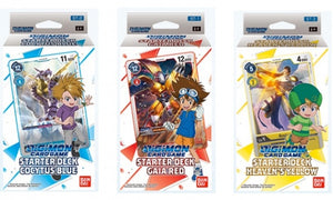 Digimon Starter Deck Bundle - Gaia Red, Cocytus Blue and Heavens Yellow.