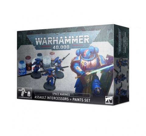 Space Marines: Assault Intercessors + Paints Set Warhammer 40,000