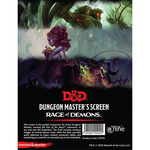 Dungeons & Dragons DM Screen Rage of Demons