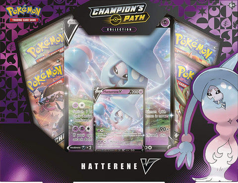 Hatterene V Box Champions Path collection Pokemon