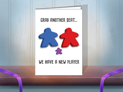 Baby meeple greeting card
