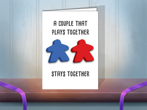 Couple Meeple greeting card