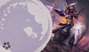 Legend of the Five Rings playmat - Unicorn Clan