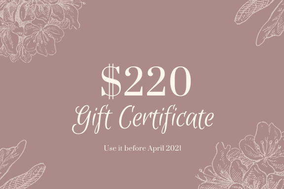 $220 Gift Certificate