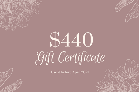 $440 Gift Certificate