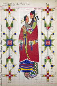 """Snagging Blanket"" Ledger Art LIMITED EDITION PRINT 16 1/8 X 10 3/4 Inches"