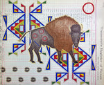 """Grandfather Buffalo"" Ledger Art PRINT 10 3/4 X 13 Inches"