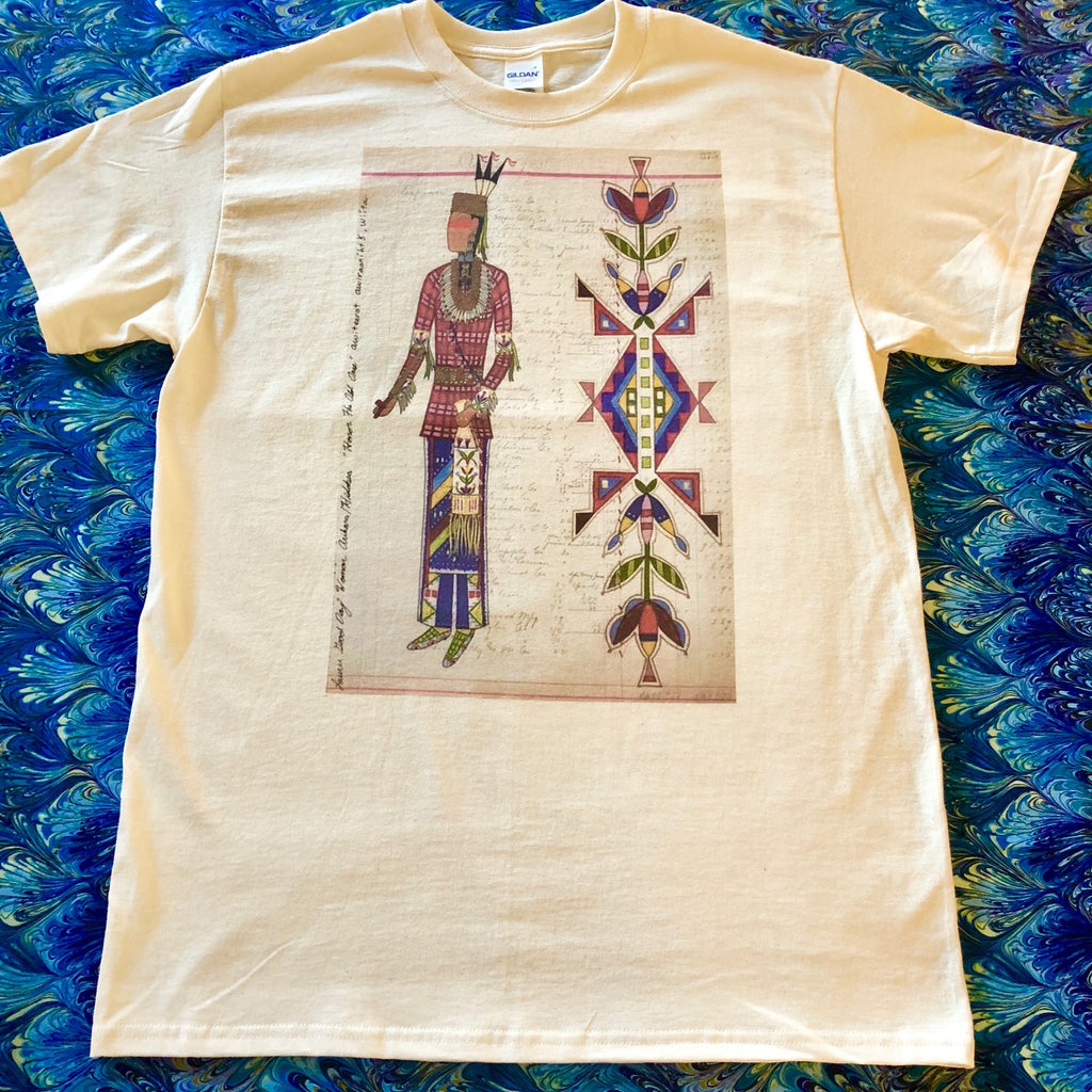 Lauren Good Day Ledger Art, Honor the Old Ones (Man Print) Wearable Art T-Shirt