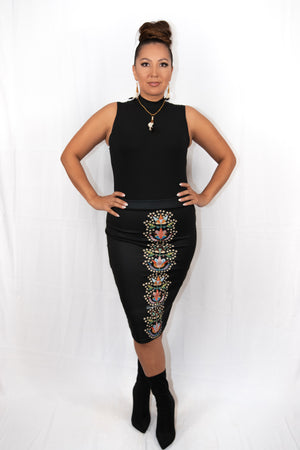 Floral Lane Pencil Skirt