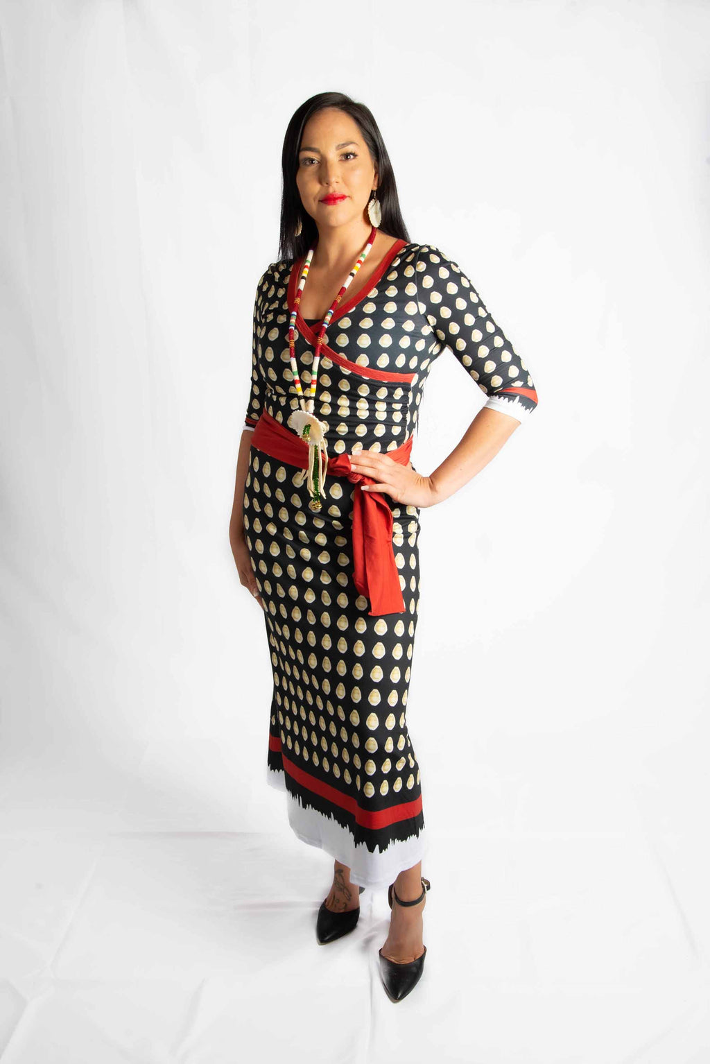 All Cowrie Wrap Dress