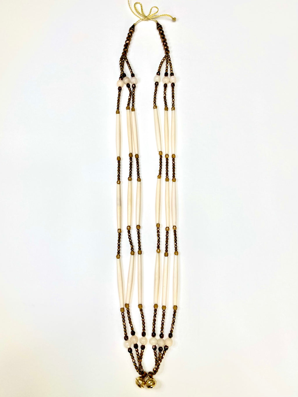 Bone & Bead Necklace - Bronze