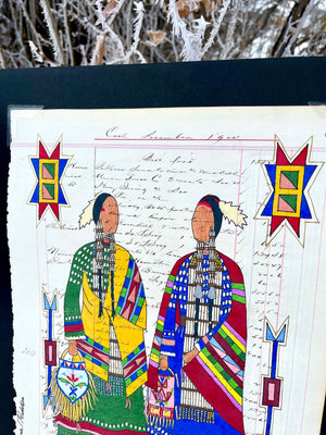 """Sisterhood"" Original Ledger Drawing"