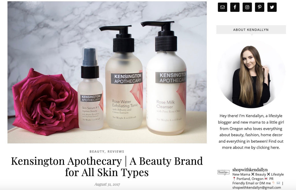 Kensington Apothecary | A Beauty Brand for All Skin Types