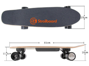 Strailboard Mini 28 Inch Electric Skateboard for Kids with Dual LED Light