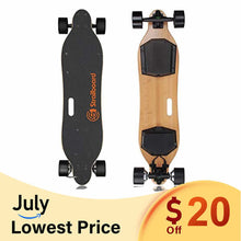 "Load image into Gallery viewer, Strailboard V2 Pro (38"") Dual Motor Wheel Off Road Electric Skateboard"