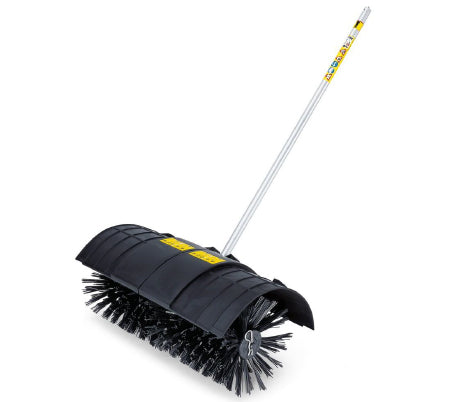 Power Broom / Replacement Head - Attachment to Convert a Weed Wacker into a Power Broom - Includes Circular Broom & Sand Guard Shield (#12110)