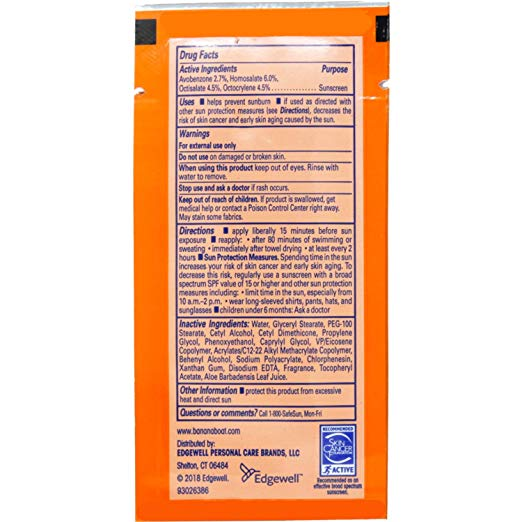 Sun Screen Lotion Packet (#10210)