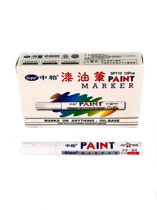 White Marker for Super Seam Tool Golf - White Oil Based Paint Pen Markers, Medium Point Tips - Permanent Ink that Works on Artificial Grass backing - Keep track of the turf size, the batch number, the dye lot number and the Turf Name (#10790)