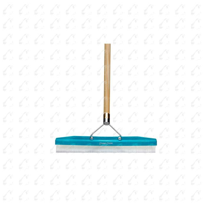 "Turf Rake - 18"" Wide - For Installations & Maintenance of Synthetic Turf - Simply Push the Rake To Groom, Clean and brush in the Sand infill on Synthetic Turf  - Wood Handle Included (#12120)"