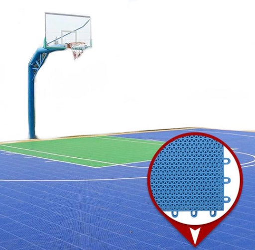"Sport Tiles - 10""x10"" - Special Order - $6.66 /Tile -Installed on Top of Concrete Flooring  to Create a Sport Court - Basketball, Tennis, Fast Soccer, Skate Hokey, etc.  - Many Color Options Available - Interlocking Tiles (#10580)"