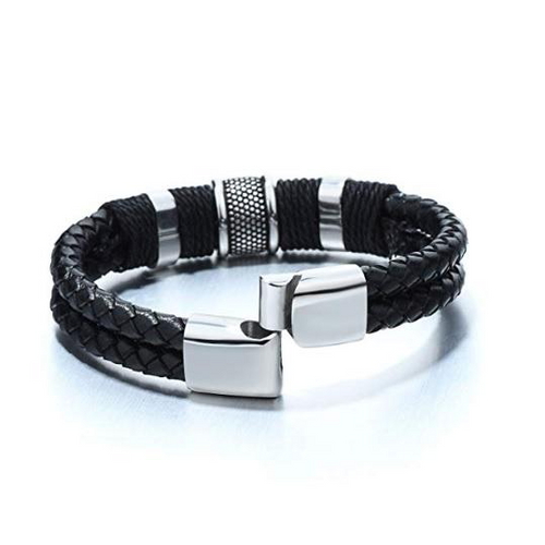 Stainless Steel Men's Bold Masculine Clarity Bracelet