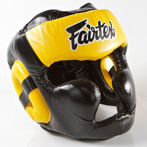 Fairtex HG13 Headgear - Yellow