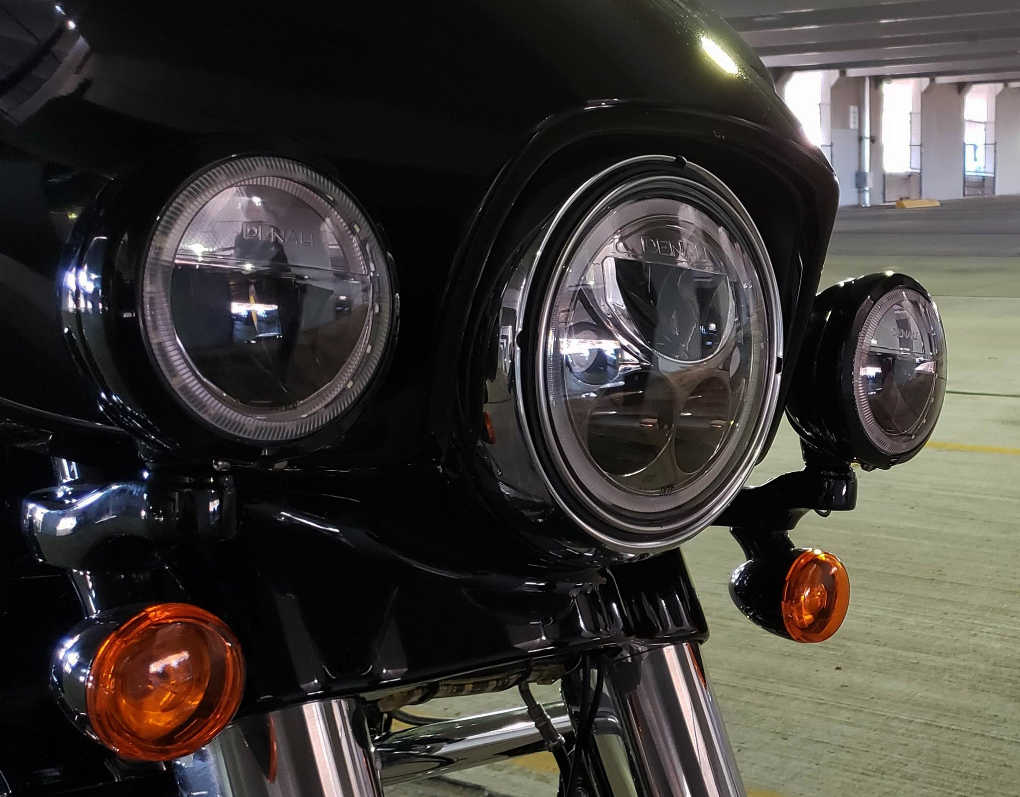 M7 & M4 LED Lights installed into the factory headlight buckets.