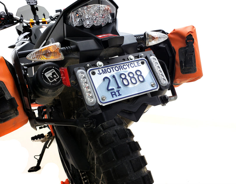 B6 Dual LED Brake Light Kit with License Plate Mount