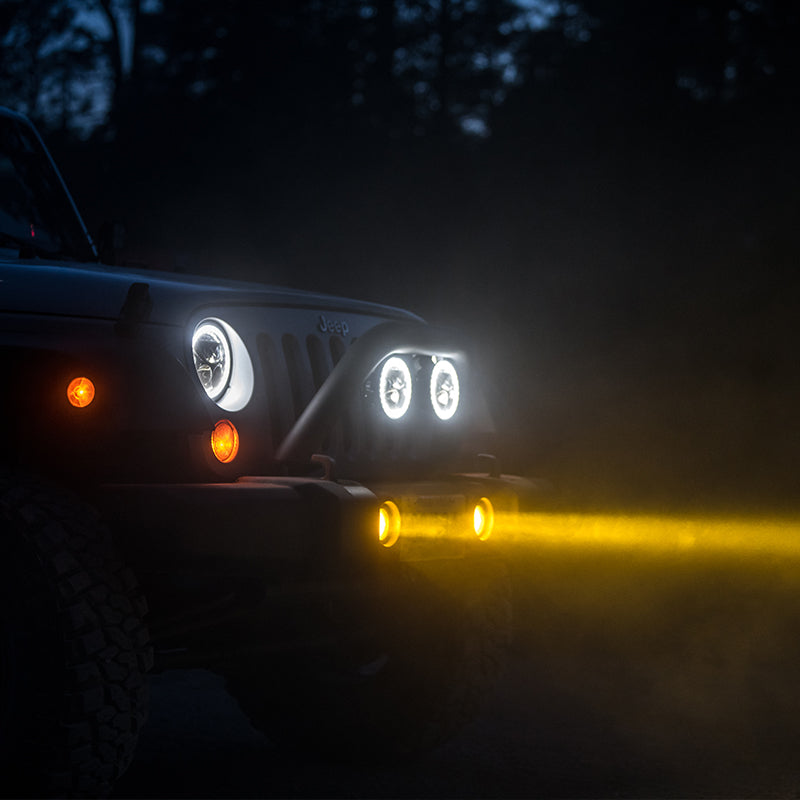 Fog Light Mount - Jeep Wrangler JK Rubicon, Rubicon X & Hard Rock Edition '13-'18