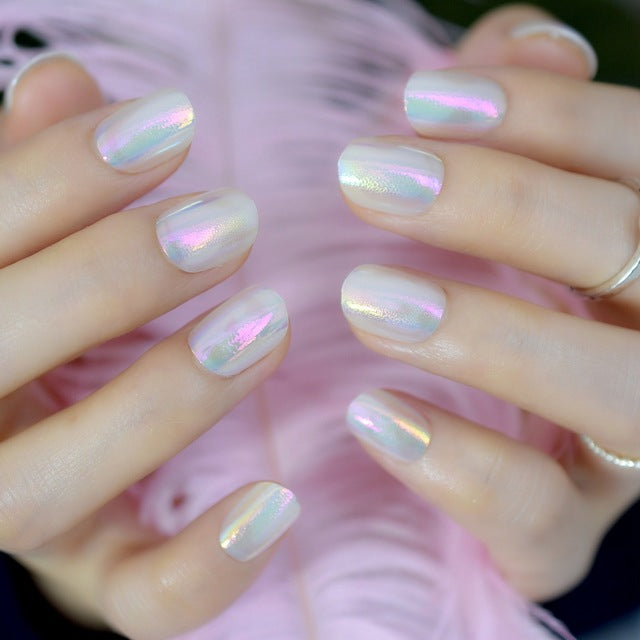 Chrome Holographique / Faux Ongles