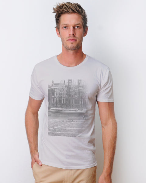 Amsterdam T-shirt Combed  Light Grey