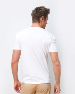 Waves T-shirt Combed  White