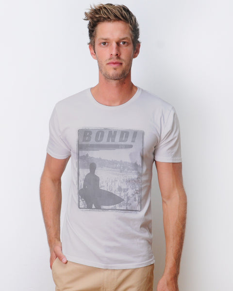Bondi 2026 T-shirt Combed  Light Grey